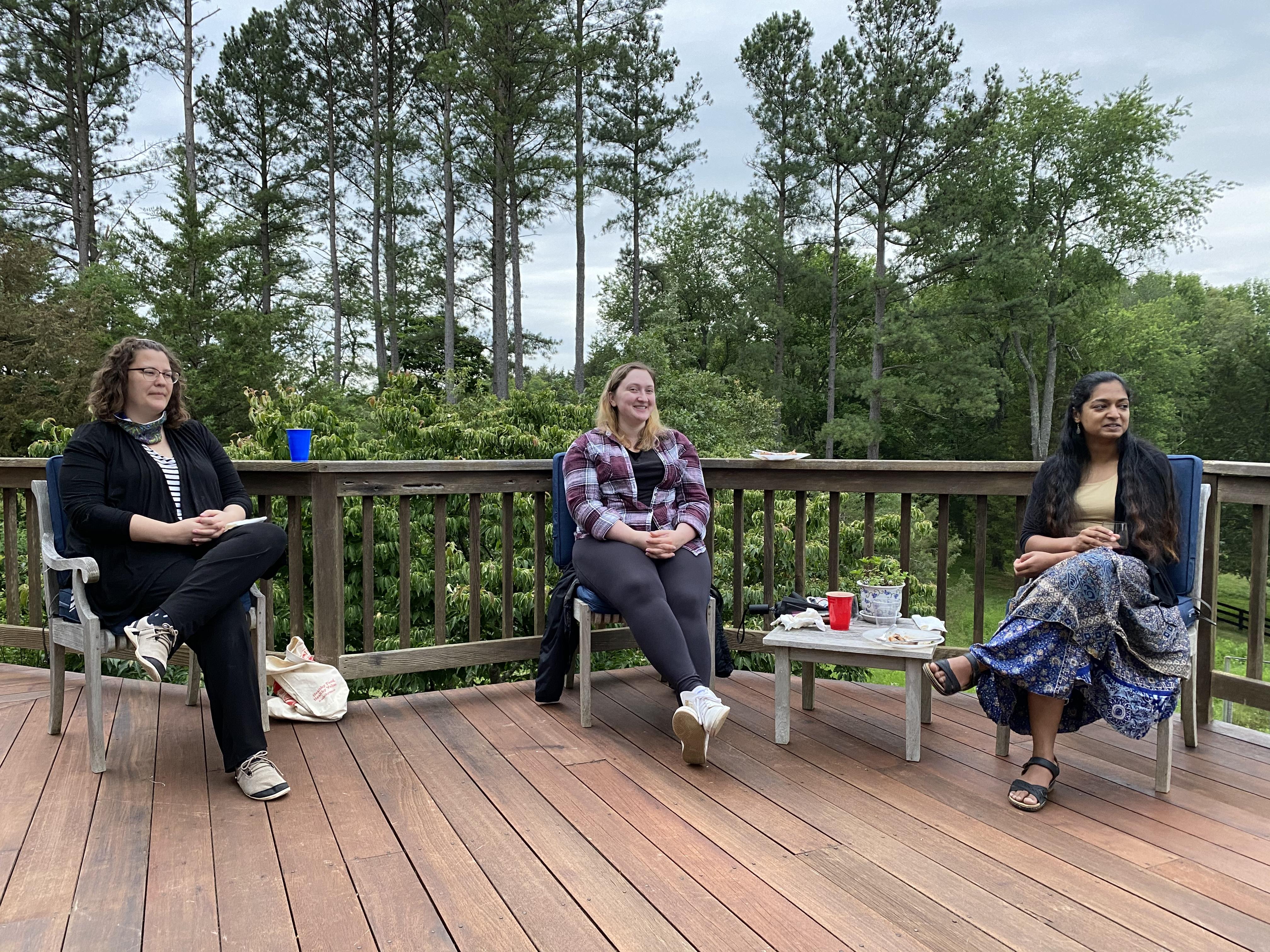 Christina, Allyson, and Abha
