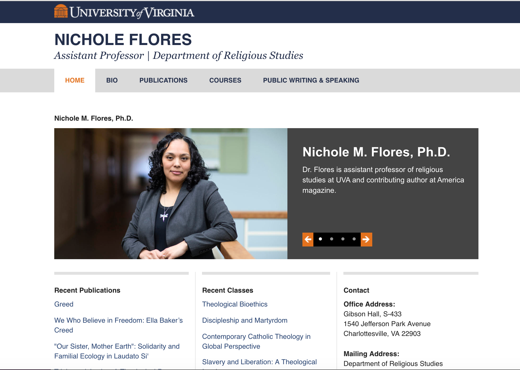 Nicole Flores website example