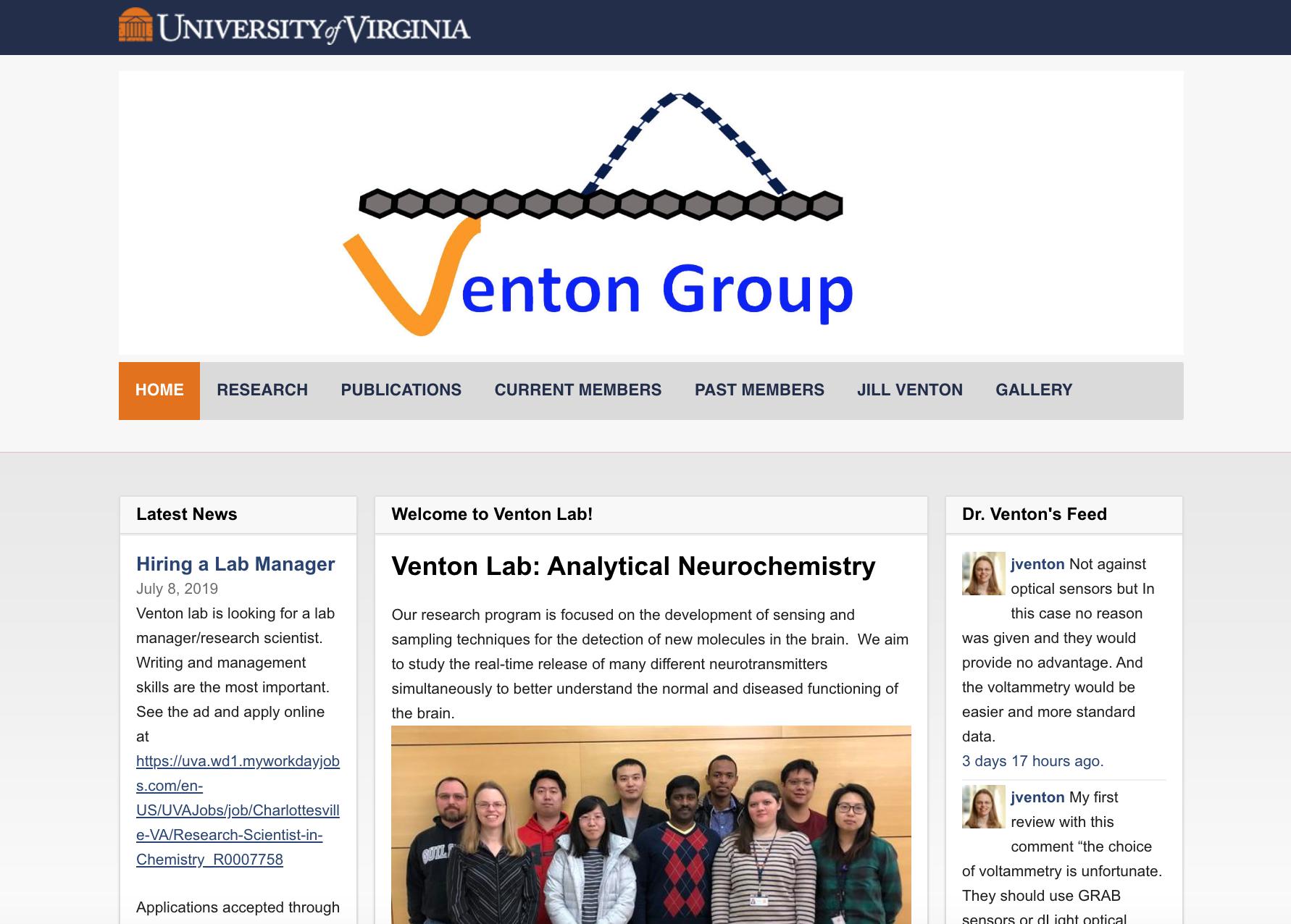 Venton Group website example