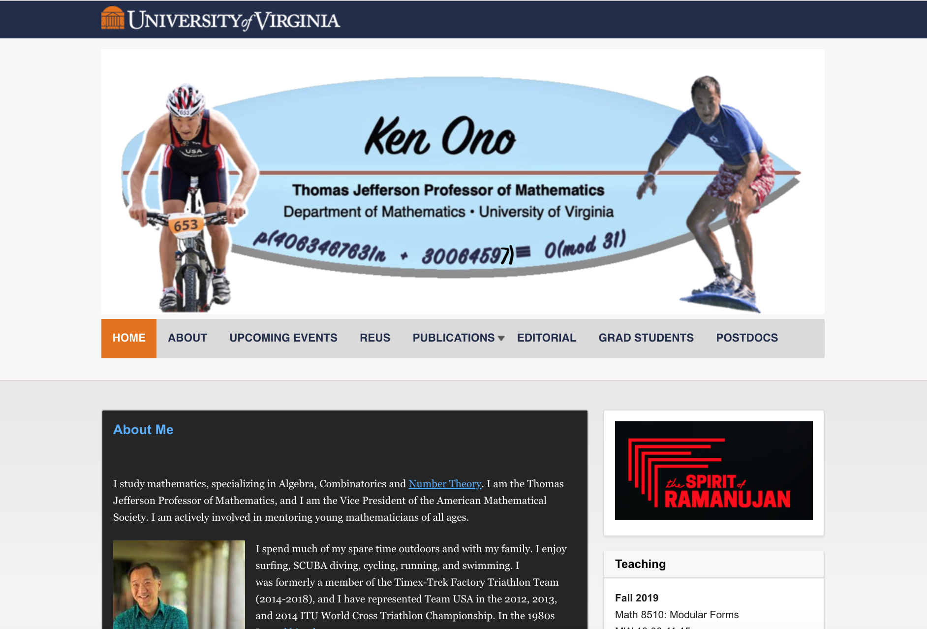 Ken Ono website example